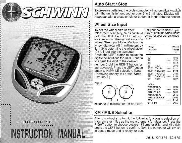 k3pgp experimenters corner schwinn 12 function bicycle computer rh k3pgp org schwinn 20-function bike computer manual pdf schwinn bike computer manual